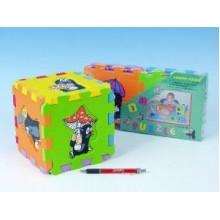 Pěnové puzzle Krtek 15x15cm 6 ks,různé druhy 35000002