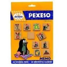 Pexeso Krtek společenská hra 40 dřevěných kamenů 33012973