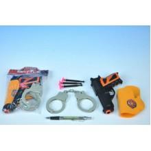 Policejní sada - Pistole+doplňky, plast, 15cm 00410002