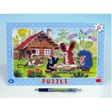 Puzzle deskové Krtek na návštěvě 29,5x19cm 15 dílků 21301160