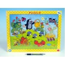 Puzzle deskové Krtek v jahodách 37x29cm 40 dílků 21322011