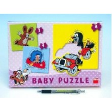 Puzzle baby Krtek 18x18cm 12 dílků 21325012