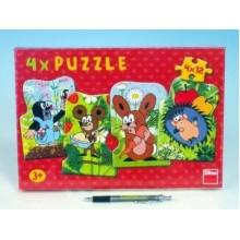 Puzzle Krtek a kamarádi 13x19cm 4x12 dílků 21333024