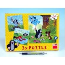 Puzzle Krtek a kalhotky 18x18cm 3x55 dílků 21335011