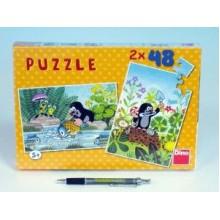 Puzzle Krtek 26,4x18,1cm 2x48 dílků 21381254