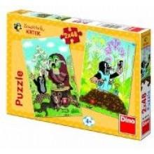 Puzzle Krtek na Mýtině 2x48 dílků 21381476