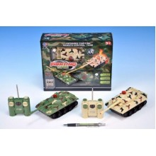 RC Tank 2ks, 14x7x7cm, na baterie, se světlem, se zvukem 56330211