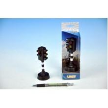 Semafor funkční, plast, 12cm, na baterie, se zvukem, se světlem 60570011