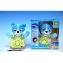 Usínáček Medvídek - modrý, Vtech, 22cm, na baterie, se zvukem, se světlem 14143558