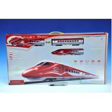 Vlak Bullet Train + dráha 1,63m + doplňky na baterie se zvukem se světlem 23200416