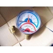 """GEOS AGT termomanometr prumyslovy spodni 63mm,0-120C,1/4""""x1/2"""", 2450"""