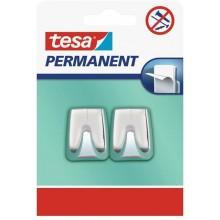 TESA Permanent háčky 2ks, lesklý pochromovaný plast 66609-00000-00