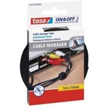 TESA Správce kabelů, černý, 5 m x 10 mm 55239-00000-01