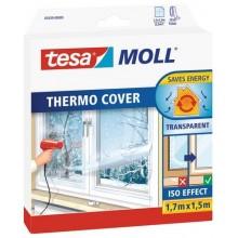TESA MOLL Thermo Cover, transparentní fólie na rám okna, průhledná, 1,7m x 1,5m 05430-00000-01