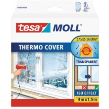 TESA MOLL Thermo Cover, transparentní fólie na rám okna, průhledná, 4m x 1,5m 05432-00000-00