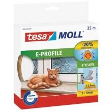 TESA MOLL Gumové těsnění, bílé, na okna a dveře, E profil, 25m 05464-00102-00