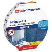 TESA Powerbond Montážní oboustranná pěnová páska na zrcadla, bílá, 5m x 19mm