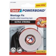TESA Powerbond Ultra Strong, oboustranná montážní páska, bílá, 1,5m x 19mm 55791-00005-00