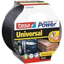 TESAOpravná páska Extra Power Universal, textilní, silně lepivá, černá, 10m x 50mm 56348-00001-05