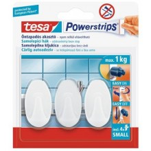 TESA Powerstrips háček oválný malý bílý plast, nosnost 1kg 57533-00101-01
