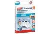 TESA Powerstrips Small, malé oboustranné proužky na připevňování, bílé, nosnost 1kg 57550-00131-01