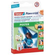 TESA Powerstrips Poster, oboustranné proužky na plakáty, bílé, nosnost 200g 58003-00130-01