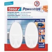 TESA Powerstrips háček oválný velký bílý plast, nosnost 2kg 58013-00055-01