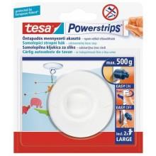 TESA Powerstrips háček na strop, kruhový O 6cm, otočný, bílý plast, nosnost 500g