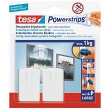 TESA Powerstrips háček na obrazy, obdélníkové, bílý plast, nosnost 1kg 58031-00129-01