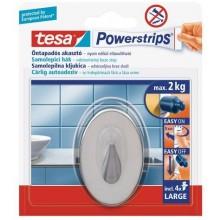 TESA Powerstrips háček velký oválný háček, nerez ocel, nosnost 2kg 58121-00101-01