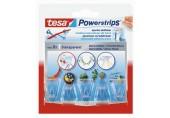 TESA Powerstrips háček Deco - malý, průhledný na sklo, pro zavěšování dekorací 58900-00018-00