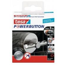 TESA Powerbutton háček DELUXE, matná nerez ocel, kruhový, nosnost 8kg 59343-00000-00