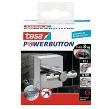 TESA Powerbutton háček DELUXE, matná nerez ocel, čtvercový, nosnost 8kg 59344-00000-00
