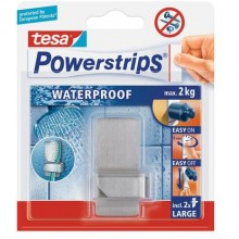 TESA Powerstrips Waterproof háček voděodolný, na zubní kartáček, nerez ocel, nosnost 2kg 59708-00005-00