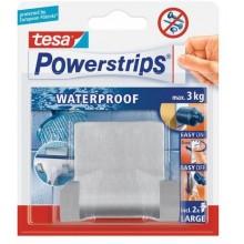 TESA Powerstrips Waterproof háček voděodolný, dvojháček, nerez ocel, nosnost 3kg 59710-00000-01