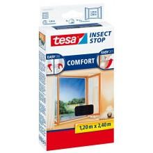 TESA Síť proti hmyzu COMFORT, na francouzské okno, antracitová 1,2m x 2,4m 55918-00021-00
