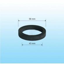 NORMA ploché těsnění mezi matici celokovové výpusti a těleso umývadla dřezu - 56x43x5 mm - T1/260