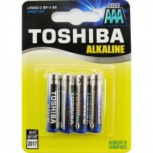 TOSHIBA Alkalické tužkové baterie LR03 4BP AAA 35040105