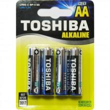 TOSHIBA Alkalické tužkové baterie LR6 4BP AA 35040107