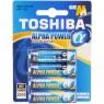 TOSHIBA Alkalická baterie LR6 4BP AA Alpha 35040095