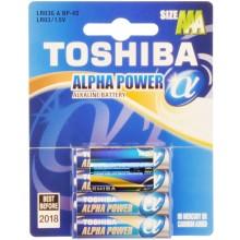 TOSHIBA Alkalická baterie LR03 4BP AAA Alpha 35040096