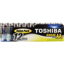 TOSHIBA Alkalické tužkové baterie G LR6 12S MP-12 AA 35040113