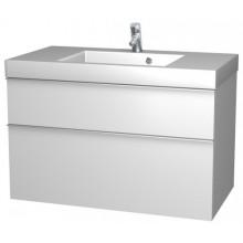 INTEDOOR TRIUMPH spodní koupelnová skříňka 100 cm, závěsná s umyvadlem bílá TR 100 B 01