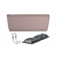 Prosperplast RATOLLA PW Truhlík závěsný 38,6x15,4x14,2cm mocca DRL400PW