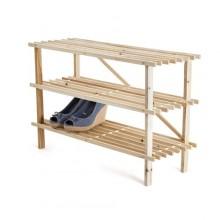 VETRO-PLUS Botník dřevěný 26 x 74 x 48,5 cm, 3 police 22WSR3