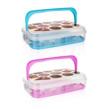 VETRO-PLUS Box na pečivo a cukroví 7 l růžová 55045011