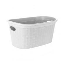 VETRO-PLUS RATTAN Koš na čisté prádlo 35 l, bílý 55PRO175W