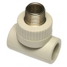 """PPR T-kus s kovovým závitem vnějším 25 x 1/2"""" x 25 mm, 6053204"""