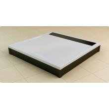 RONAL WIQ ILA sprchová vanička čtvercová 100x100x3,5cm, mramor, bílá/bílá WIQ1000404