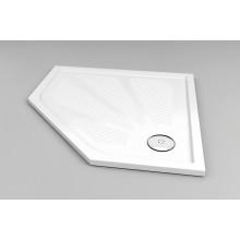RONAL WM5 Marblemate pětiúhelníková sprchová vanička, 90x90cm, bílá WM5636090004